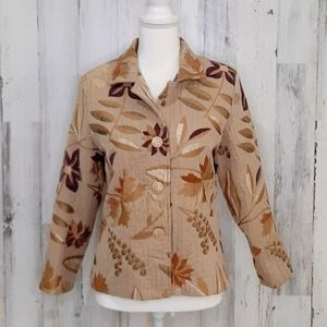 🎅 Lilly of California Vintage Floral Blazer Small